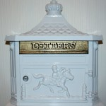 Vintage Post Box suitable as a table top  (Half Size)